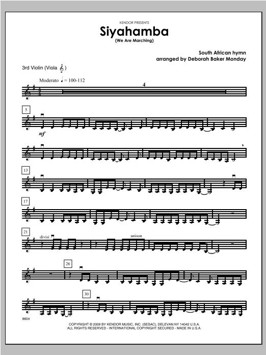 Siyahamba (We Are Marching) - Violin 3 Sheet Music