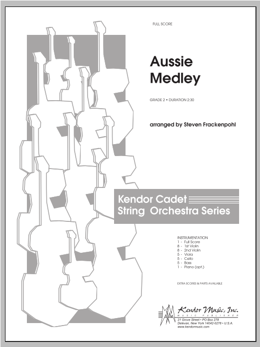 Aussie Medley (COMPLETE) sheet music for orchestra by Steve Frackenpohl. Score Image Preview.