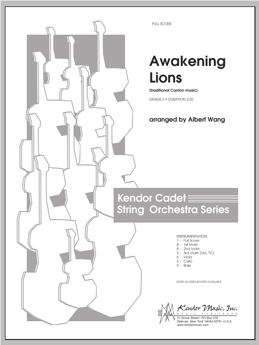 Awakening Lions (traditional Canton music) (COMPLETE) sheet music for orchestra by Wang. Score Image Preview.