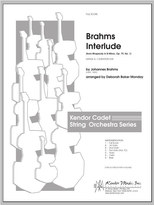 Brahms Interlude (from Rhapsody In B Minor, Op. 79, No. 1) - Full Score Sheet Music