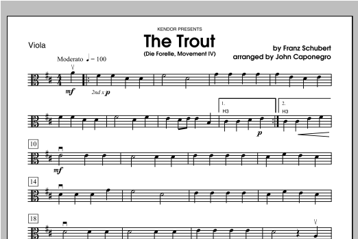 Trout, The (Die Forelle, Movement IV) - Viola Sheet Music