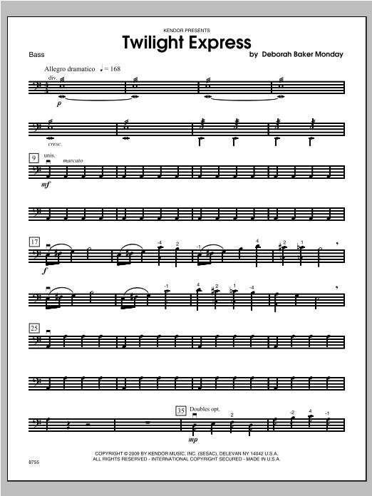 Twilight Express - Bass Sheet Music