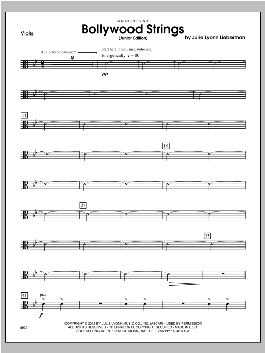 Bollywood Strings (Junior Edition) - Viola Sheet Music