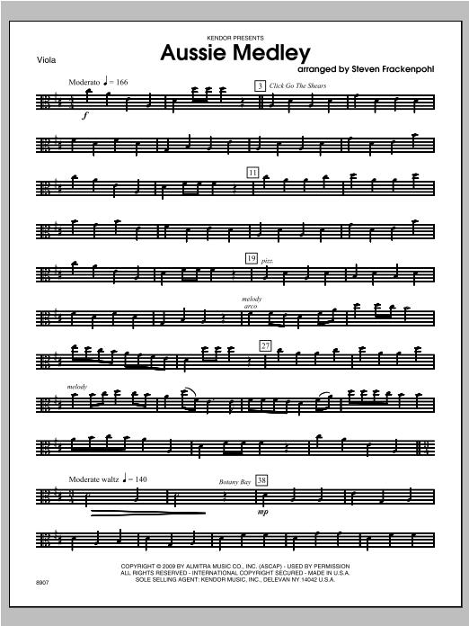 Aussie Medley - Viola Sheet Music