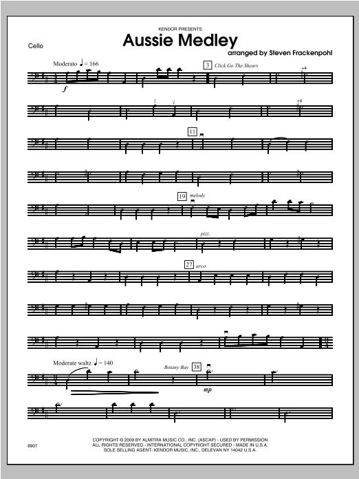 Aussie Medley - Cello Sheet Music