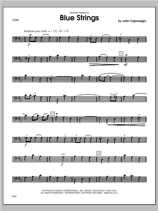 Blue Strings - Cello Sheet Music