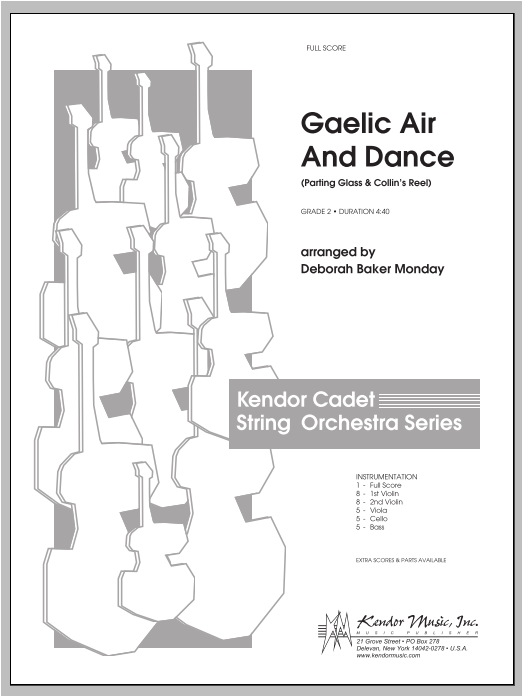 Gaelic Air And Dance (Parting Glass & Collin's Reel) - Full Score Sheet Music
