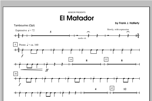 El Matador - Percussion 2 Sheet Music