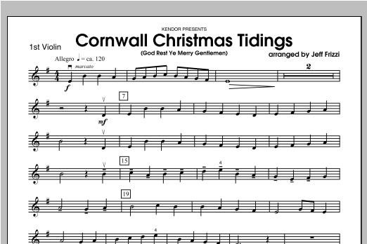 Cornwall Christmas Tidings (God Rest Ye Merry Gentlemen) - Violin 1 Sheet Music