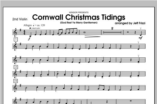 Cornwall Christmas Tidings (God Rest Ye Merry Gentlemen) - Violin 2 Sheet Music