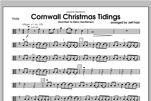 Cornwall Christmas Tidings (God Rest Ye Merry Gentlemen) - Viola Sheet Music