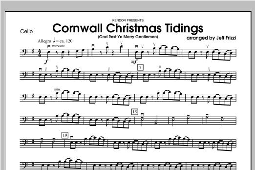 Cornwall Christmas Tidings (God Rest Ye Merry Gentlemen) - Cello Sheet Music