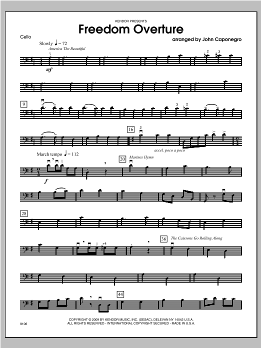 Freedom Overture - Cello Sheet Music
