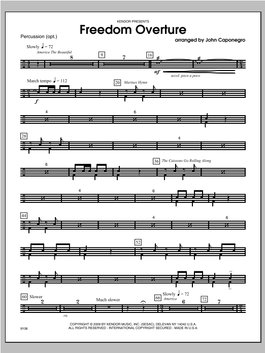 Freedom Overture - Aux Percussion Sheet Music