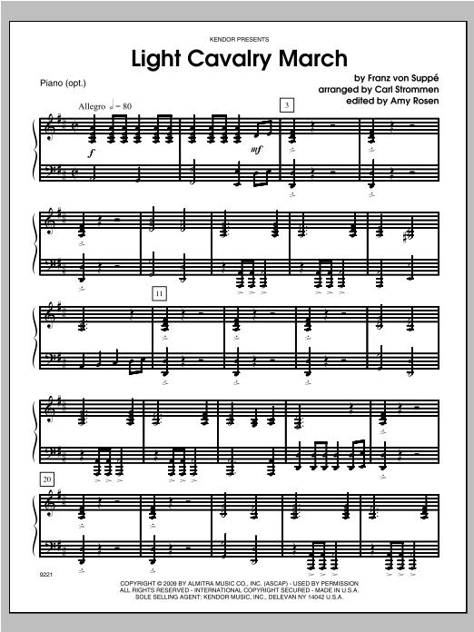 Light Cavalry March - Piano Sheet Music