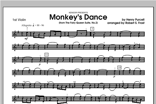 Monkey's Dance (from The Fairy Queen Suite, No. 2) - Violin 1 Sheet Music