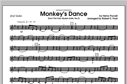 Monkey's Dance (from The Fairy Queen Suite, No. 2) - Violin 2 Sheet Music