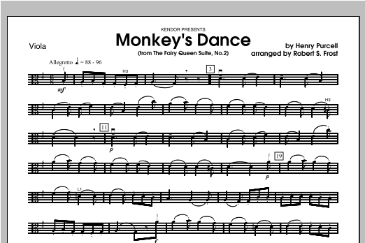 Monkey's Dance (from The Fairy Queen Suite, No. 2) - Viola Sheet Music