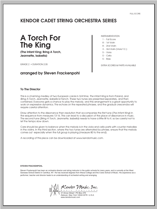 Torch For The King, A (COMPLETE) sheet music for orchestra by Steve Frackenpohl. Score Image Preview.