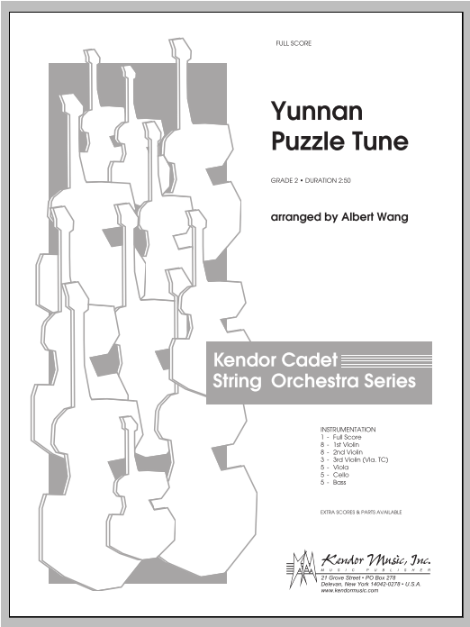 Yunnan Puzzle Tune (COMPLETE) sheet music for orchestra by Wang. Score Image Preview.