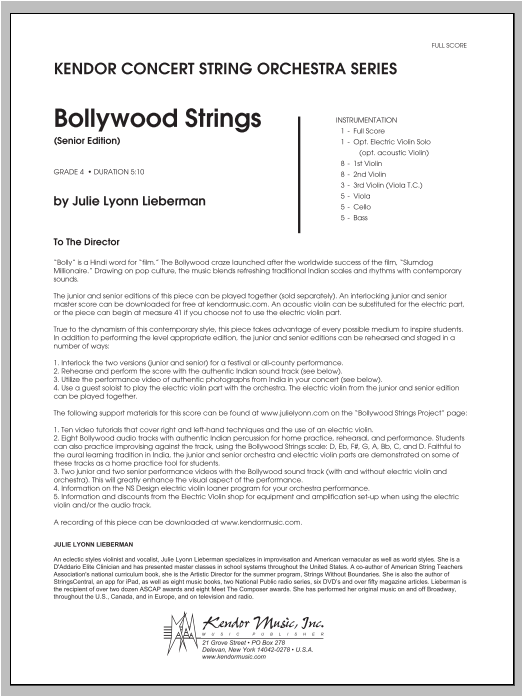 Bollywood Strings (Senior Edition) - Full Score Sheet Music