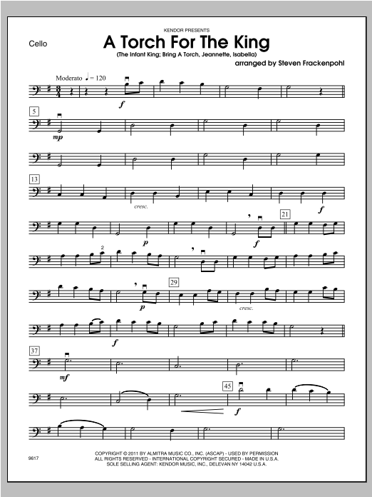 Torch For The King, A - Cello Sheet Music