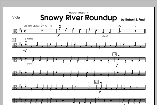 Snowy River Roundup - Viola Sheet Music