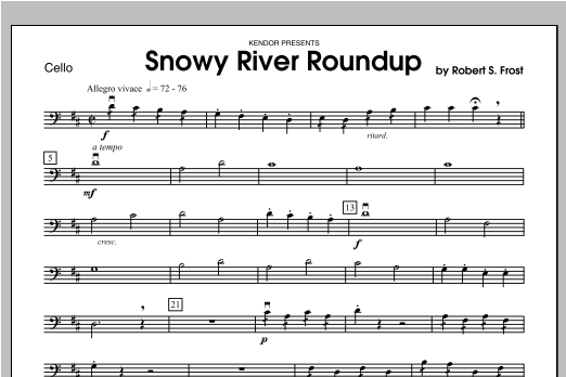 Snowy River Roundup - Cello Sheet Music
