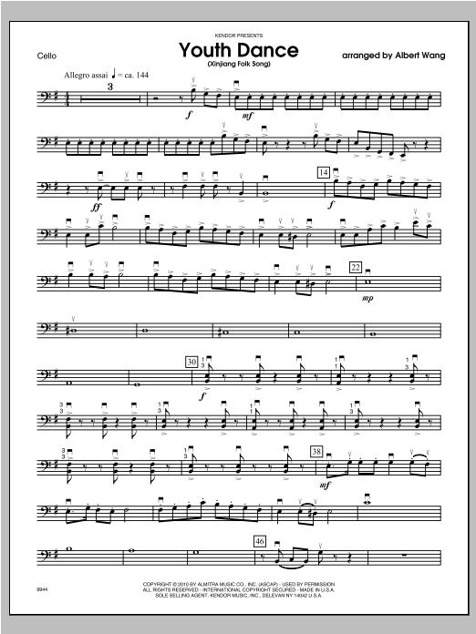 Youth Dance (Xinjiang Folk Song) - Cello Sheet Music