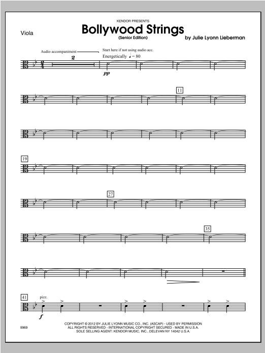 Bollywood Strings (Senior Edition) - Viola Sheet Music
