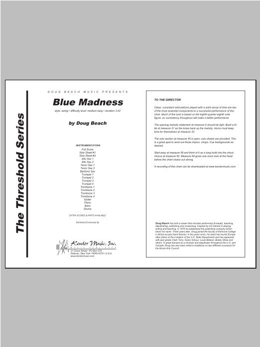 Blue Madness - Full Score Sheet Music