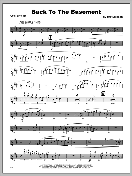 Back To The Basement - Alto Sax 2 Sheet Music