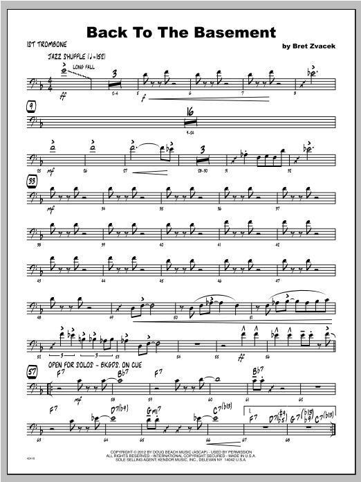 Back To The Basement - Trombone 1 Sheet Music