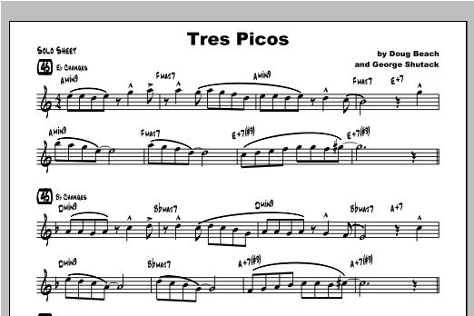 Tres Picos - Solo Sheet Music