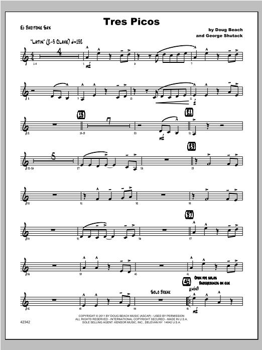 Tres Picos - Baritone Sax Sheet Music