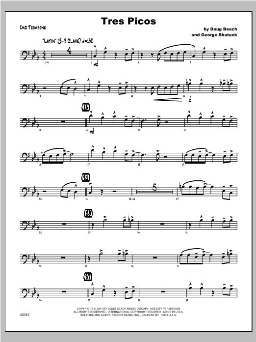 Tres Picos - Trombone 2 Sheet Music