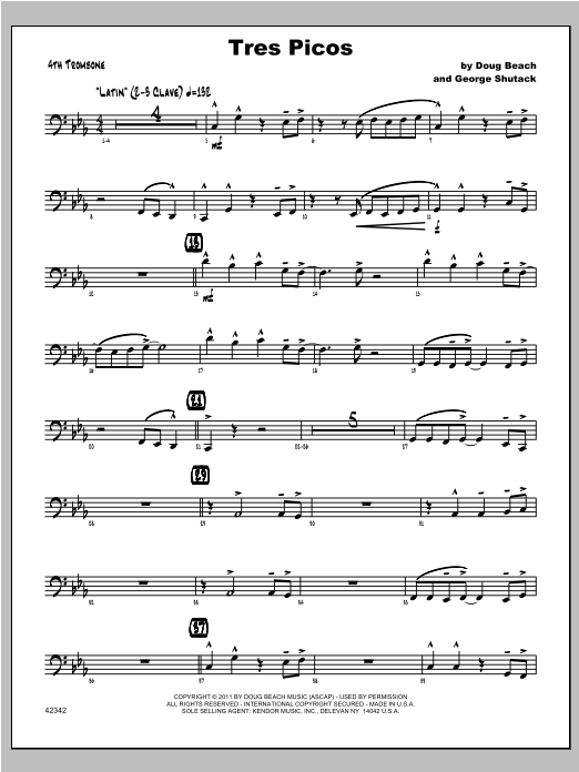 Tres Picos - Trombone 4 Digitale Noten