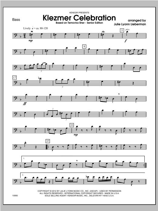 Klezmer Celebration (based on Ternovka Sher) (Senior Edition) - Bass Sheet Music