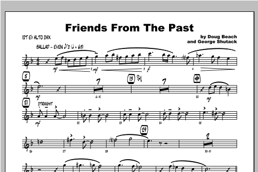 Friends From The Past - Alto Sax 1 Sheet Music
