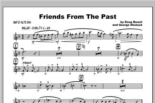 Friends From The Past - Alto Sax 2 Sheet Music