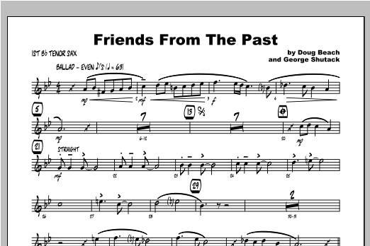 Friends From The Past - Tenor Sax 1 Sheet Music