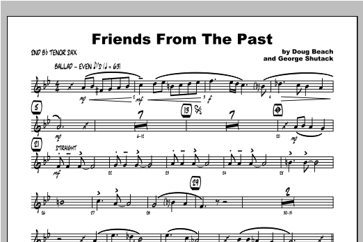 Friends From The Past - Tenor Sax 2 Sheet Music