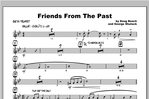Friends From The Past - Trumpet 2 Sheet Music
