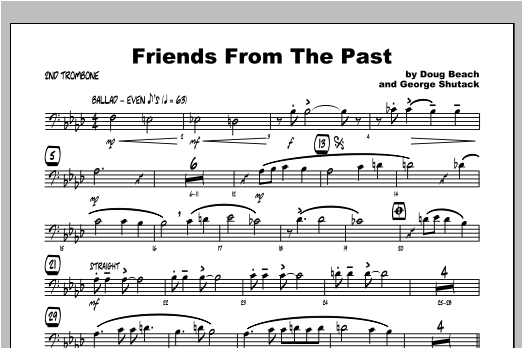Friends From The Past - Trombone 2 Sheet Music