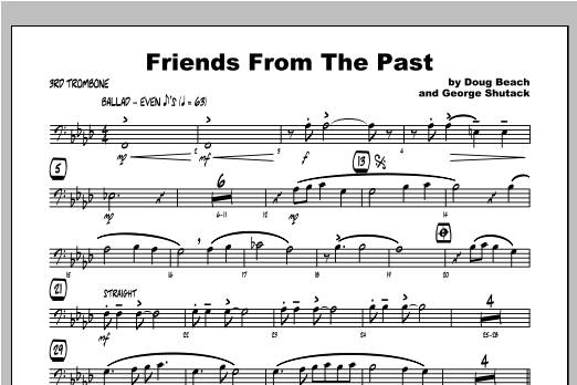 Friends From The Past - Trombone 3 Sheet Music