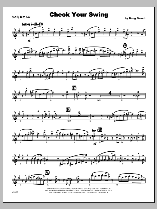 Check Your Swing - Alto Sax 1 Sheet Music