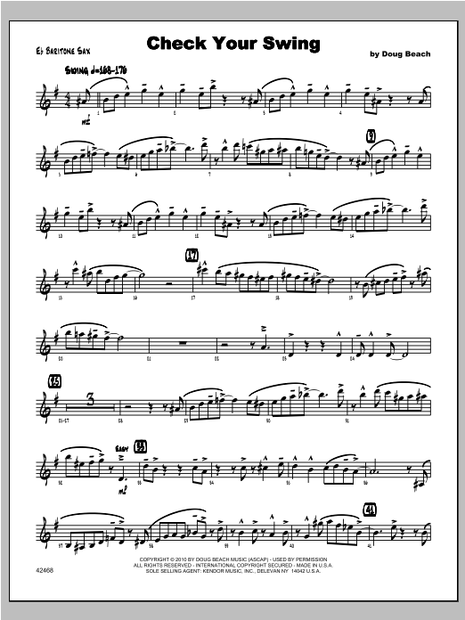 Check Your Swing - Baritone Sax Sheet Music