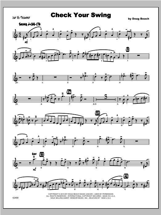 Check Your Swing - Trumpet 1 Sheet Music