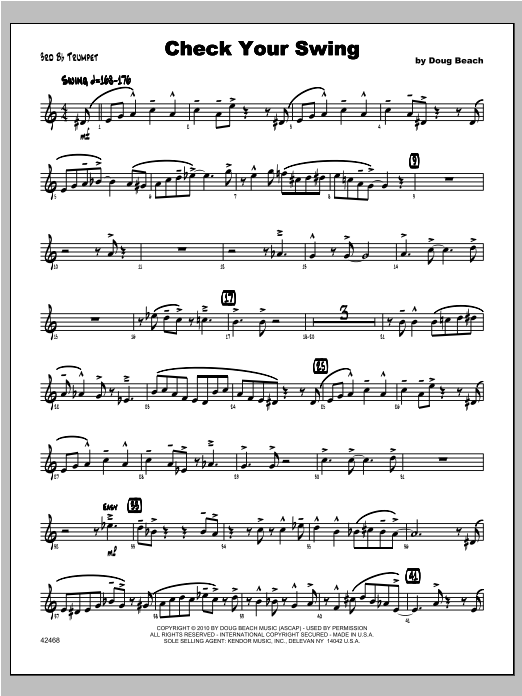 Check Your Swing - Trumpet 3 Sheet Music