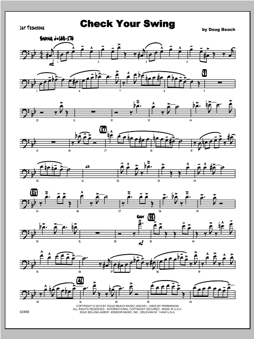 Check Your Swing - Trombone 1 Digitale Noten